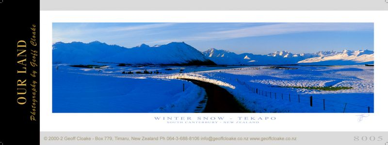 8005 - Tekapo Snow - Sample Pano