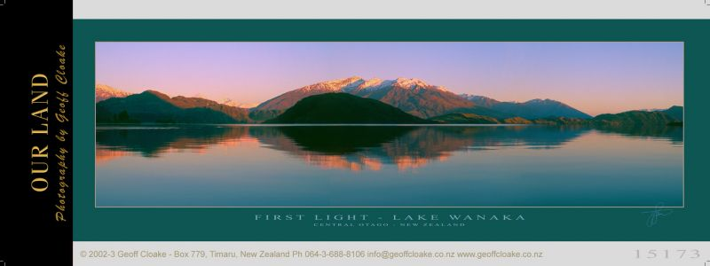 15173c - First Light - Lake Wanaka - Sample Pano