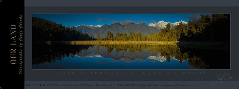 M3544 - Late Afternoon at Lake Matheson - Sample Pano ver A3 aRGB-DLE