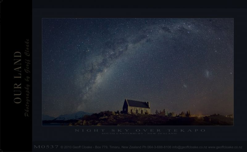 M0537 Night Sky Tekapo  - Sample i1080 ver A3 aRGB