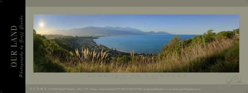 I1241 Sundown on Kaikoura - Sample Pano ver A3 aRGB-DLE