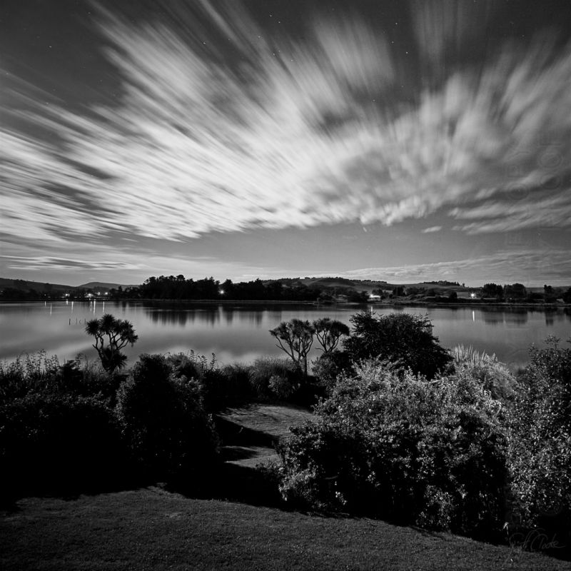L0336 - Midnight at the Hawkesbury Lagoon - Super Large Matt Pano