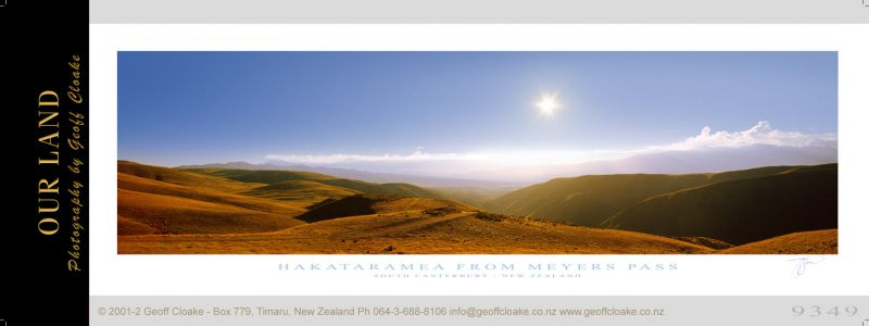 9349 - Hakataramea from Meyers Pass - Sample Pano