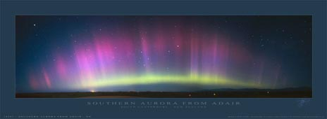 The southern Lights Aurora from Timaru New Zealand