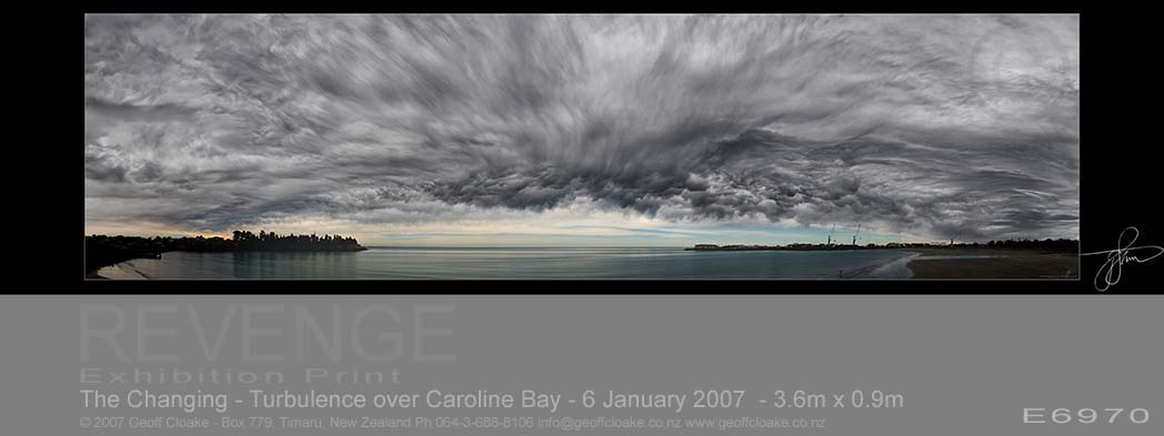 The Changing - Turbulence over Caroline Bay