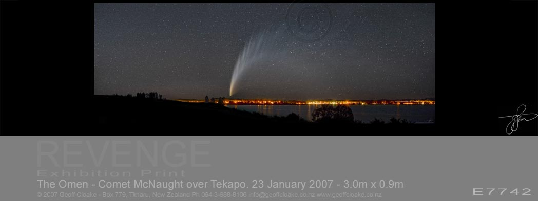 The Omen - Comet McNaught over Tekapo