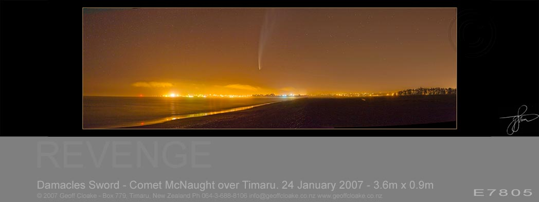 Damacles Sword - Comet McNaught over Timaru