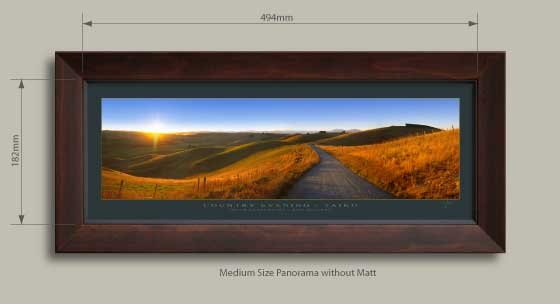 Framed fine art photo print of new zealand (NZ) landscape panoramas