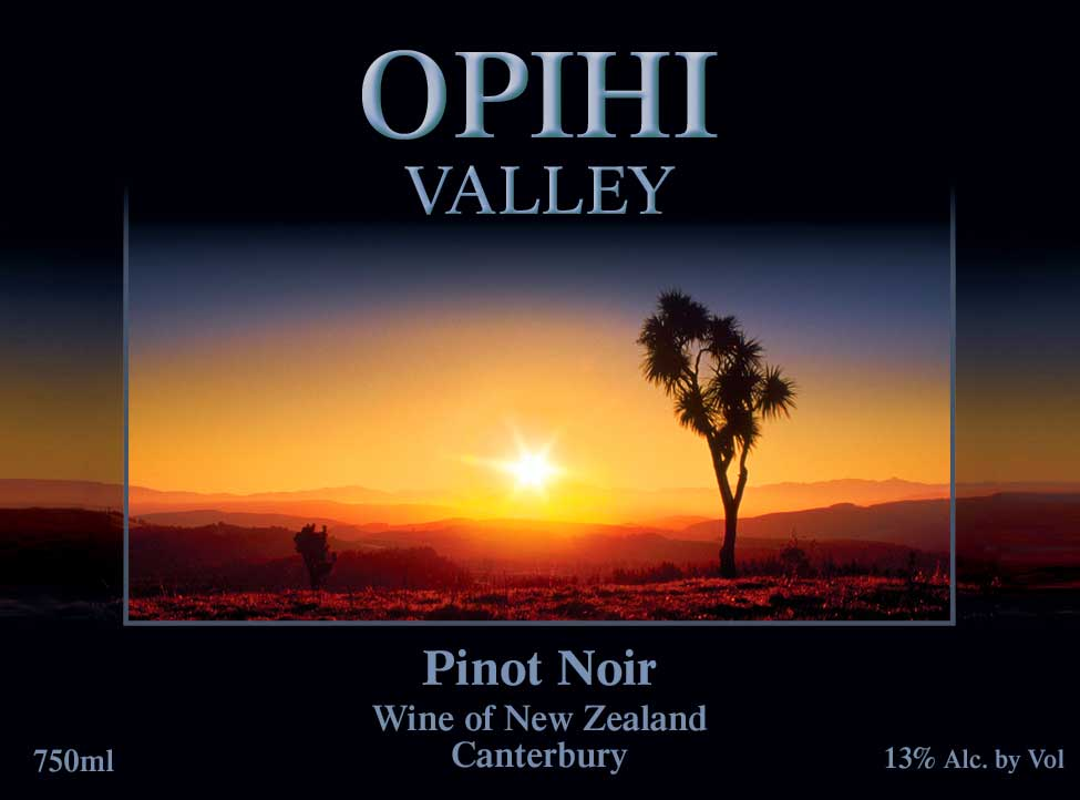 Opihi Vine Yard Wine Label