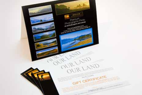 Gift Voucher and Sample Card